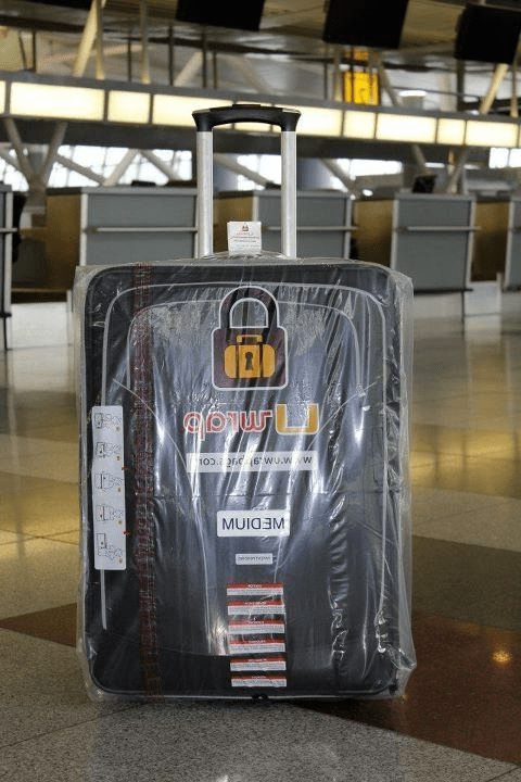 Wrapped luggage