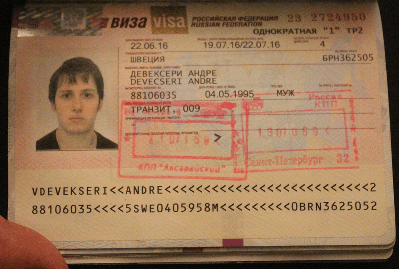 Tourist visa to Russia