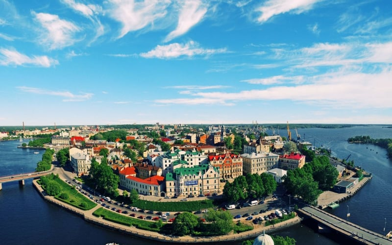 Vyborg city in Russia