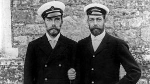 Nikolay II and Georges V together