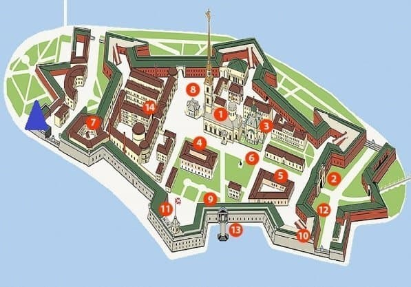 Peter and Paul Fortress Map