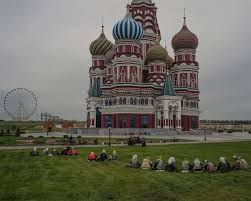 A replica of the Saint Basil Cathedral in Mongolia