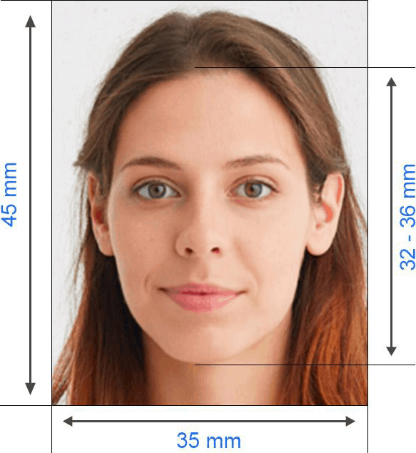 Russian visa photo requirements - example